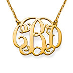 18k Gold Plated Celebrity Monogrammed Necklace