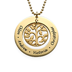 18k Gold Plated Family Tree Necklace