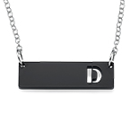 Acrylic Initial Horizontal Bar Necklace
