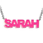 Stylish Color Name Plated Necklace