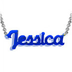 New York Style Color Name Necklace