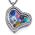 Birthstone Charms  Floating Locket
