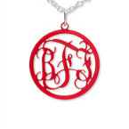 Circle Monogram Color Necklace