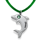 Dolphin Necklace in Sterling Silver