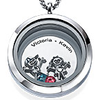 Floating Locket for Mom with Children Charms