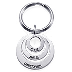 Gift for Mom - Three Disc Engraved Keychain