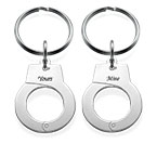 Handcuff Keychain Set for Two