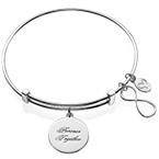 Infinity Charm Bangle Bracelet