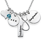 Infinity Charm Necklace for Moms