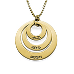 Jewelry for Moms - Three Disc Necklace in 10K Gold