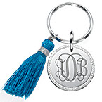 Monogram Keychain with Tassel