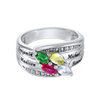 Mother Ring with Birthstones