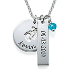 New Mom Jewelry - Baby Feet Charm Necklace
