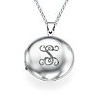 Personalized Initial Locket in Sterling Silver