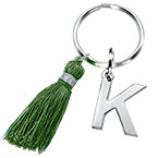 Personalized Keychain with Initial and Tassel
