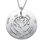 Personalized Mom Jewelry - Family Tree Necklace