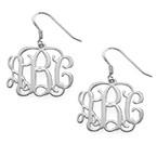 Silver Monogram Earrings