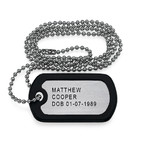 Fathers Day Gifts - Stainless Steel Personalized Dog Tag