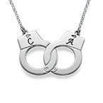 Sterling Silver Handcuff Necklace
