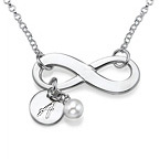Silver Infinity Initial Necklace