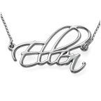 Sterling Silver Personalized Script Necklace