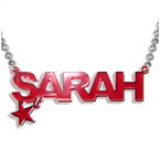 Stylish Color Name Necklace with your choice of charm