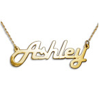 Stylish 14k Yellow Gold Name Necklace