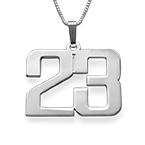 Sterling Silver Number Necklace