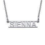 Bar Name Necklace - Cut Out Design