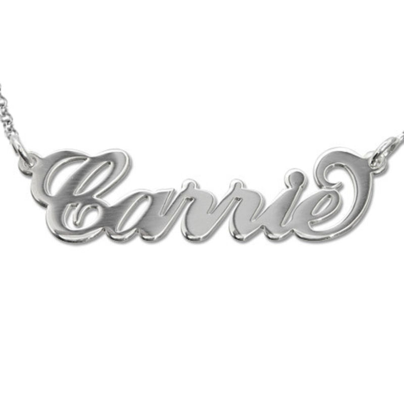 Sterling Silver Carrie-Style Name Necklace