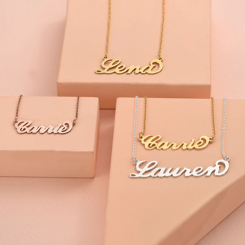 Sterling Silver Carrie-Style Name Necklace - 2