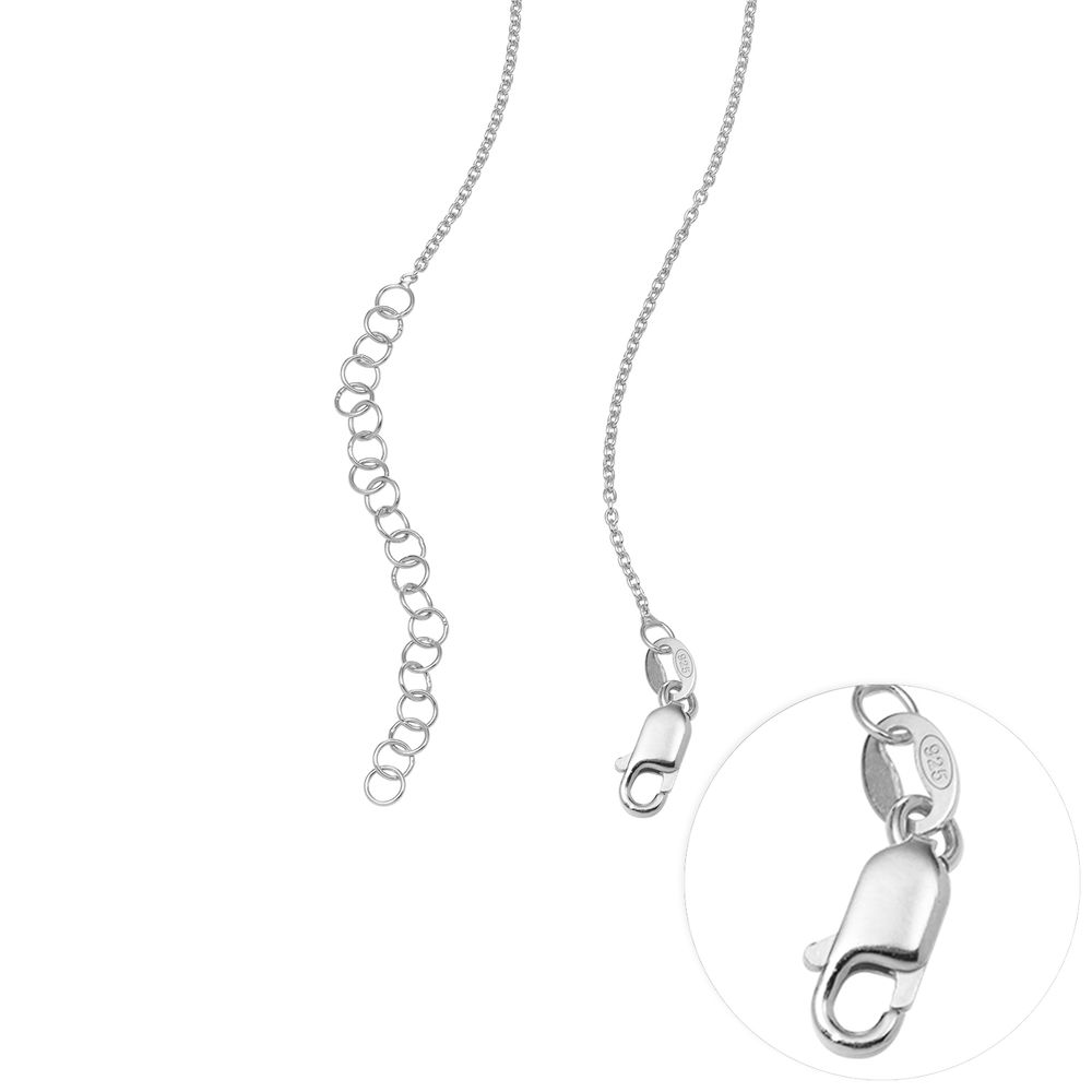 Small Sterling Silver Carrie-Style Name Necklace - 4