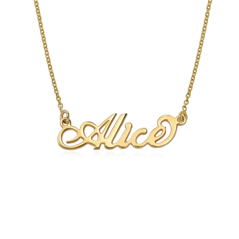 Small 18k Gold-Plated Sterling Silver Carrie-Style Name Necklace