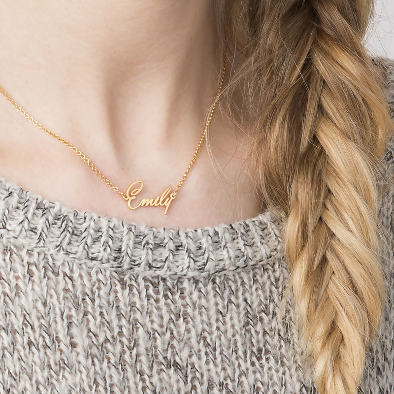 Tiny Name Necklace with 18k Gold Plating - Extra Strength - 1