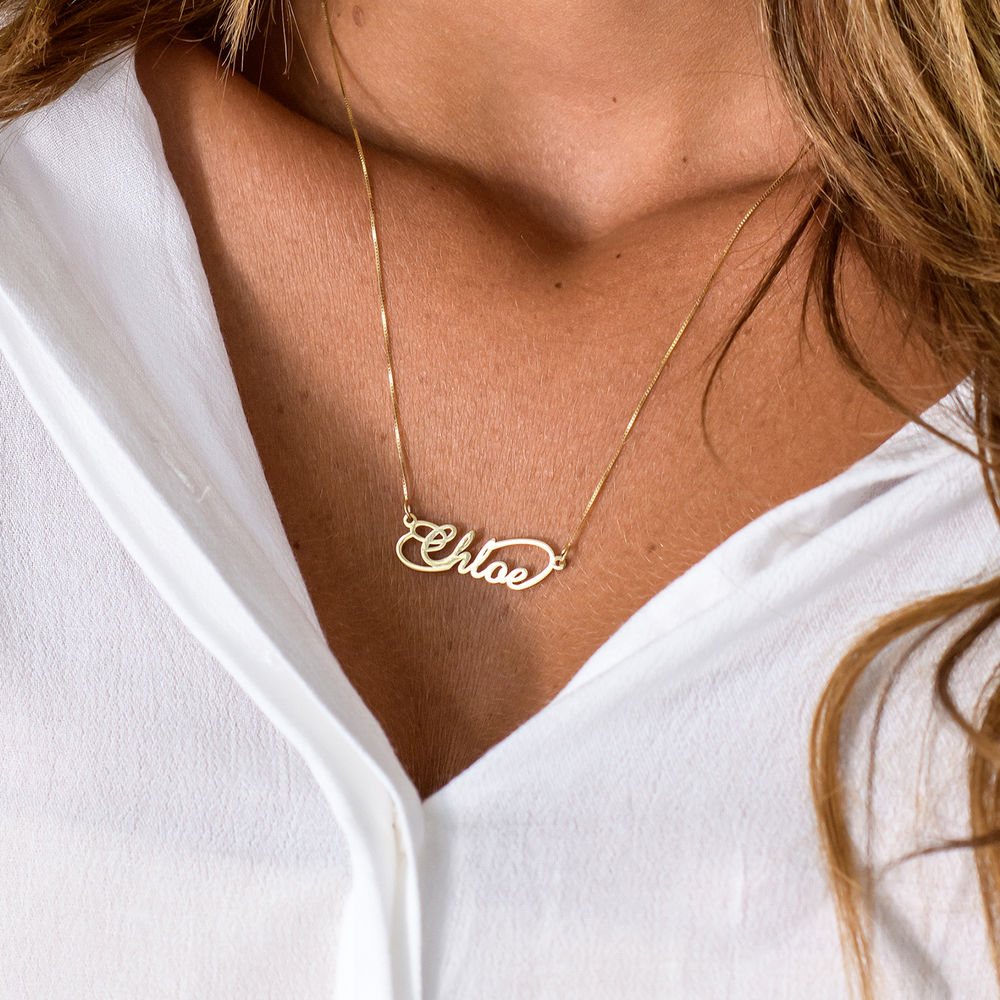 14K Infinity Style Name Necklace - 1