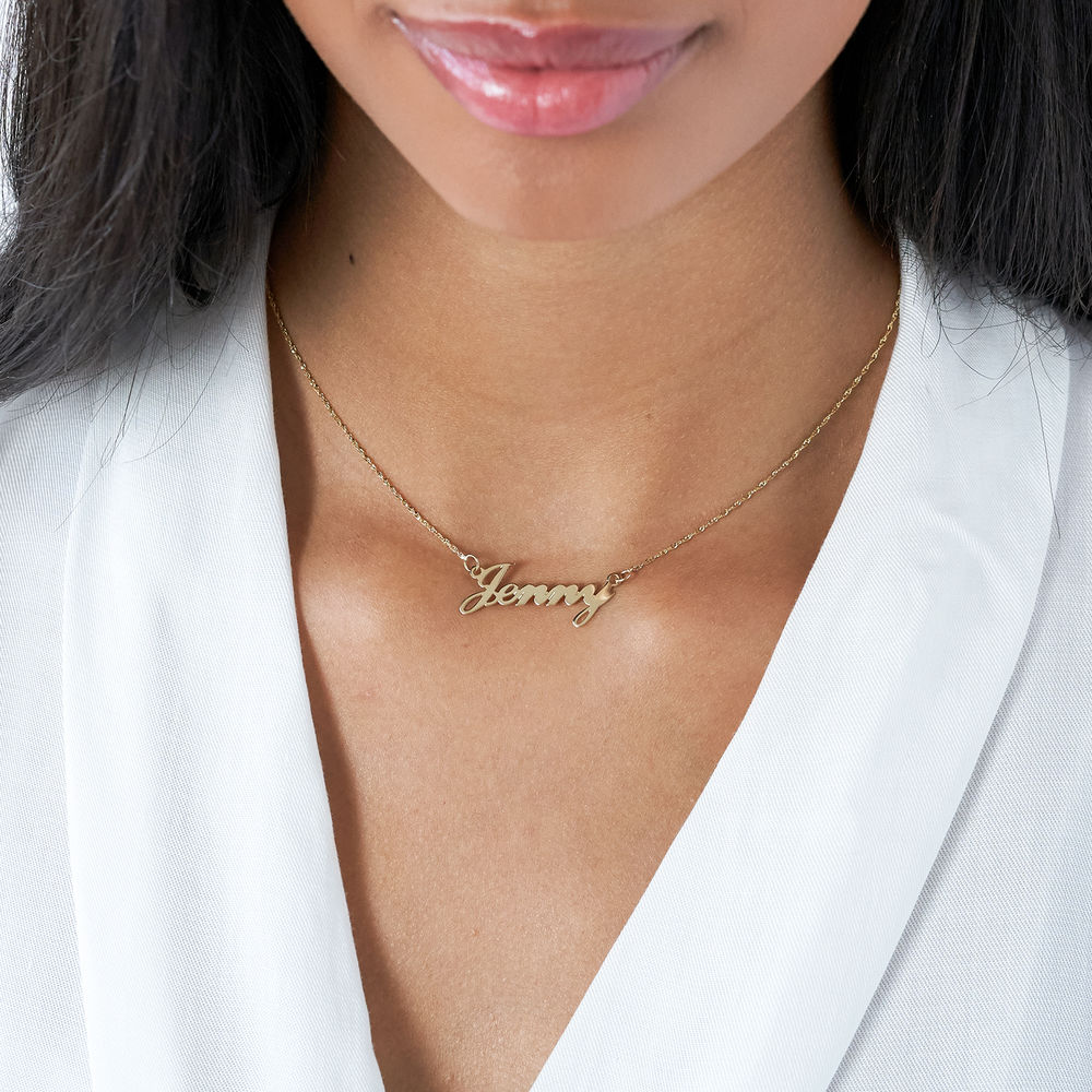 Small 14k Gold Classic Name Necklace - 1