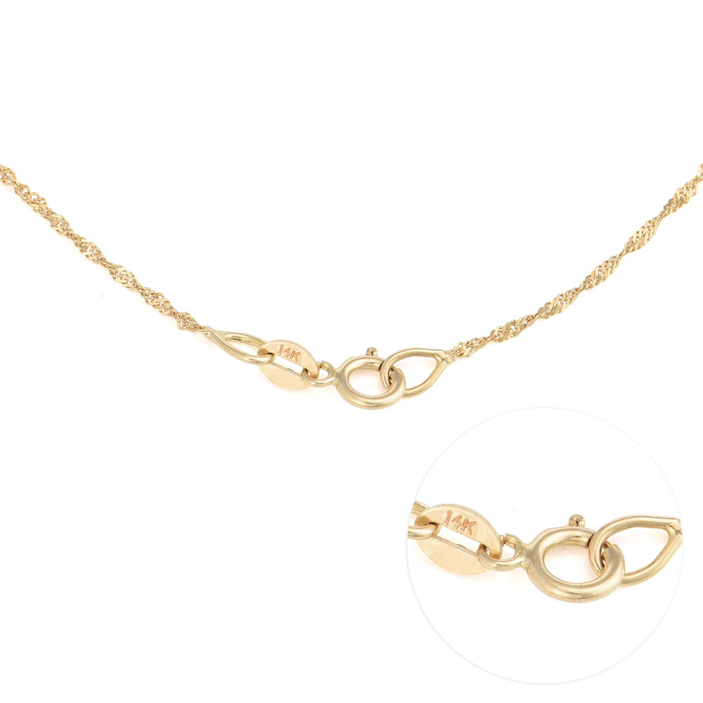 Small 14k Gold Classic Name Necklace - 3