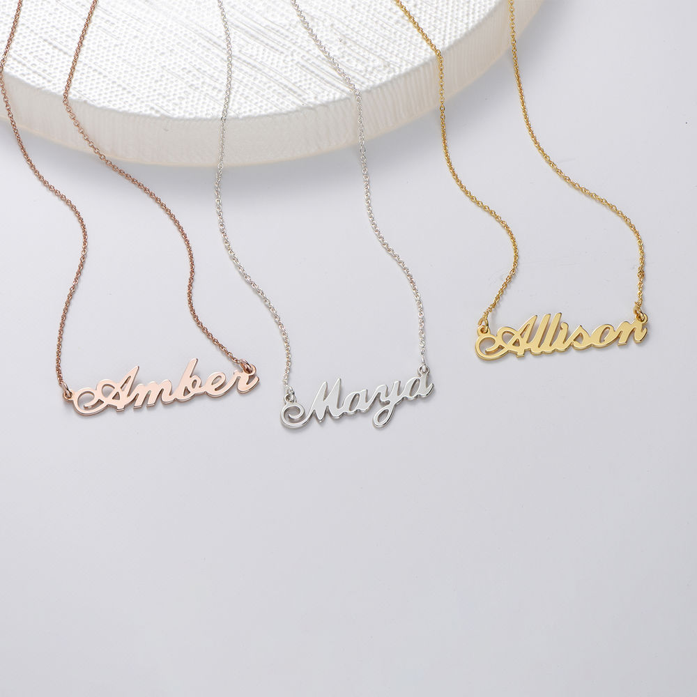 Small 18k Gold-Plated Silver Classic Name Necklace - 1