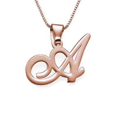 Rose Gold Plated Initial Pendant