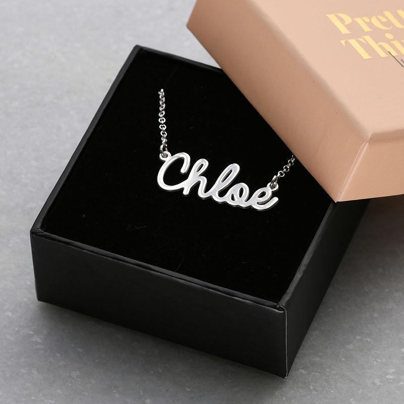 Sterling Silver Cursive Name Necklace - 5