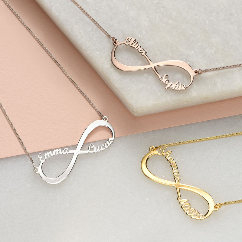 Infinity Name Necklace in Sterling Silver - 2
