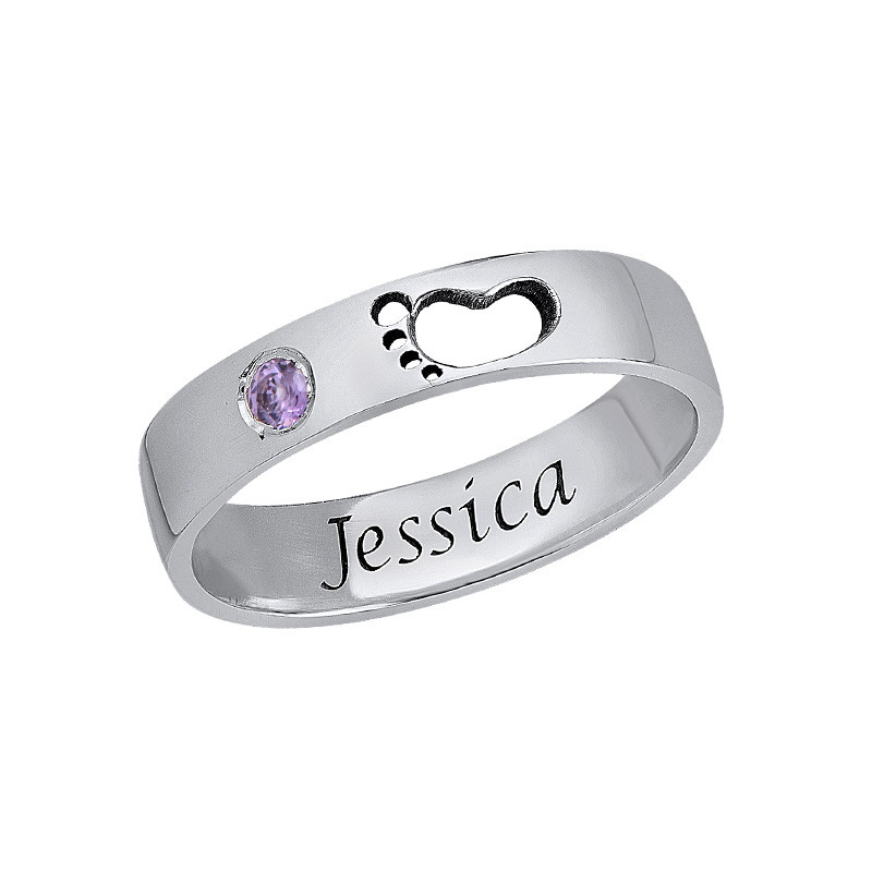 Baby Feet Ring with Inner Engraving