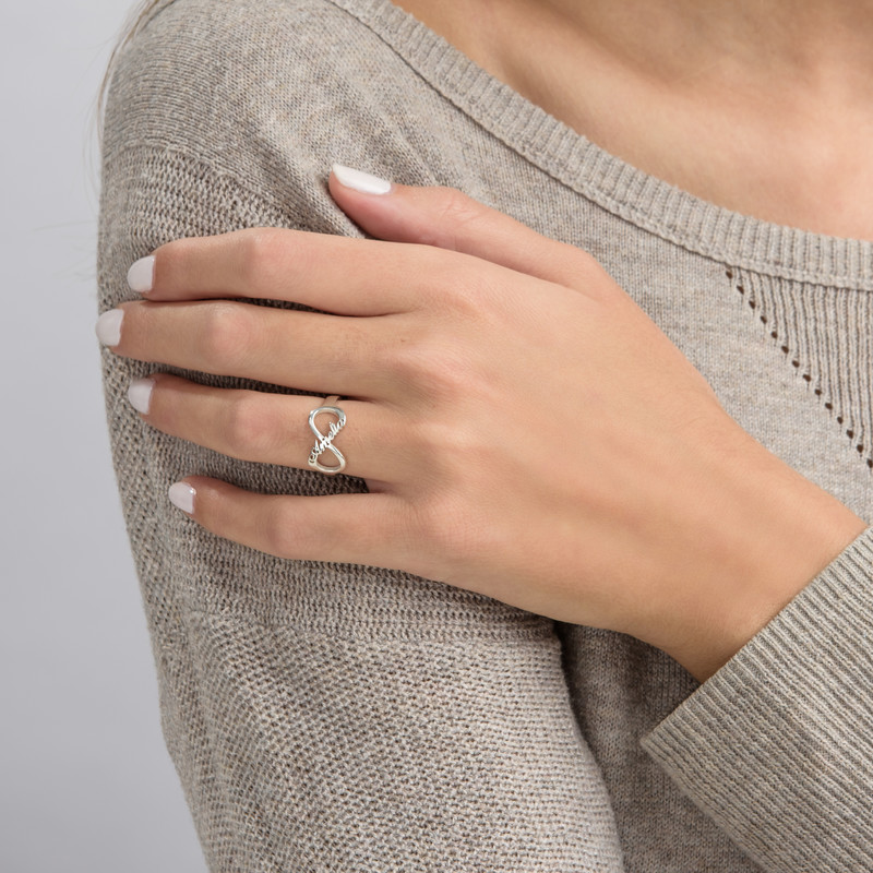 Infinity Name Ring in Silver - 2