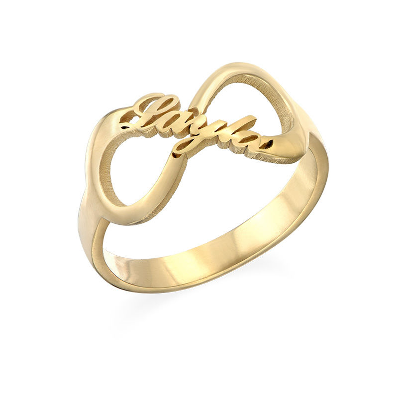 Infinity Name Ring with Gold Plating