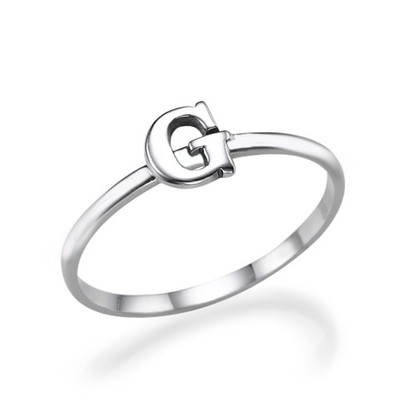 Letter Ring in Sterling Silver
