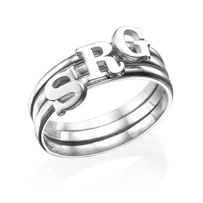 Letter Ring in Sterling Silver - 3