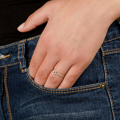 Letter Ring in Sterling Silver - 4