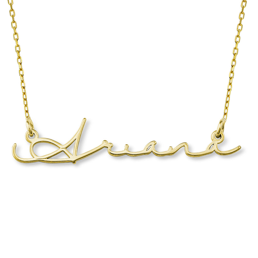 Signature Style Name Necklace - 10k Gold