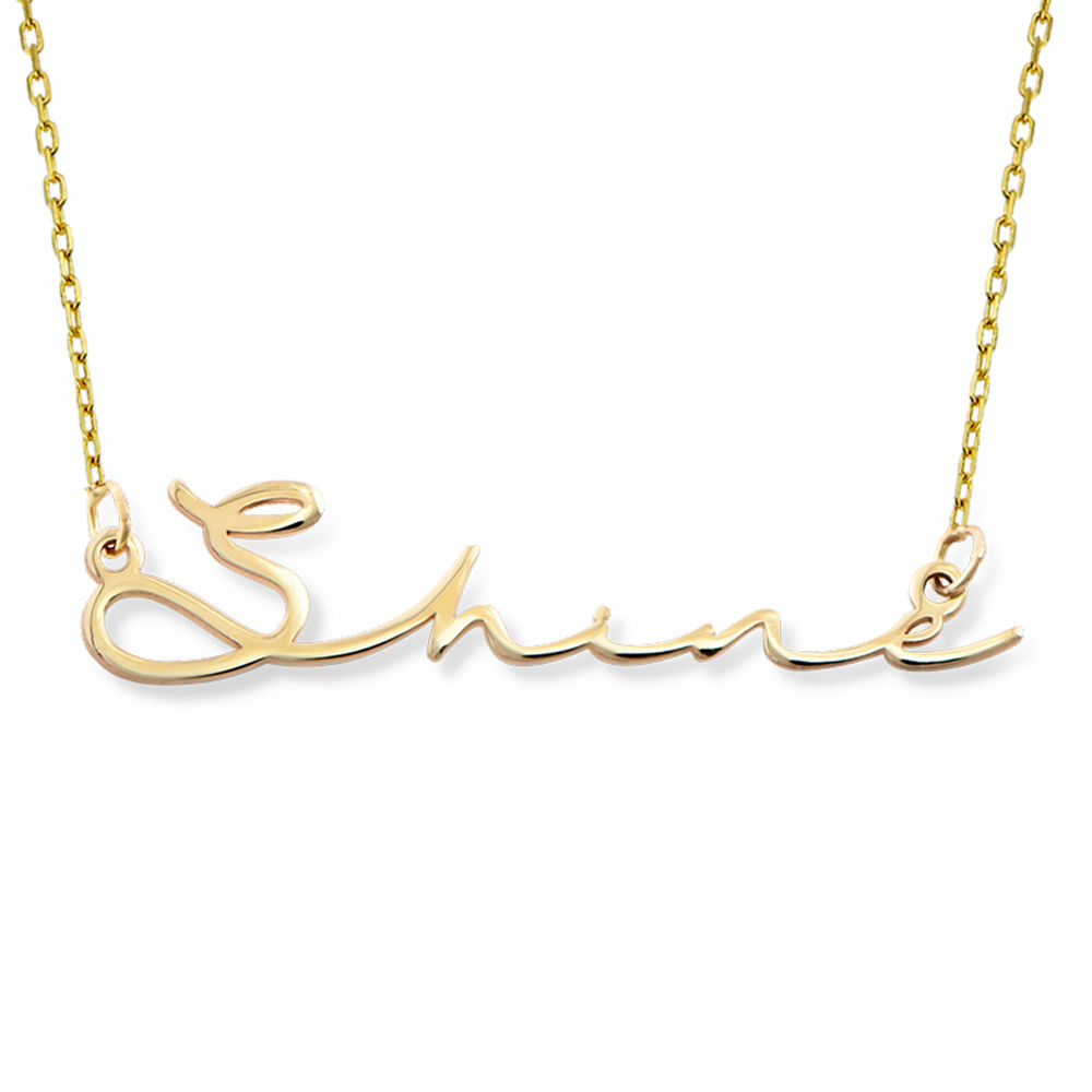 Signature Style Name Necklace - 10k Gold - 1