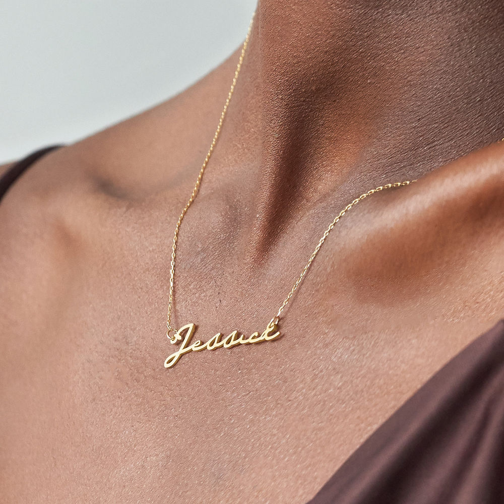 Signature Style Name Necklace - 10k Gold - 3